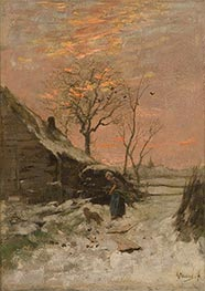 Winter Landscape (Farm with Woman and Dog in the Snow), Undated by Anton Mauve   Giclée Canvas Print