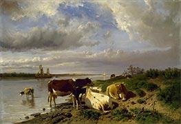 Landscape with Cattle, c.1880 by Anton Mauve   Giclée Canvas Print