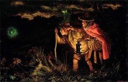 Arthur Hughes | Jack O'Lantern, 1872 | Giclée Canvas Print
