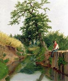 Arthur Hughes | A Boy Fishing, undated | Giclée Canvas Print