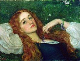 Arthur Hughes | In the Grass, undated | Giclée Canvas Print