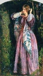 Arthur Hughes | Amy (Study For The Long Engagement), 1857 | Giclée Canvas Print