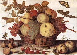 van der Ast | Basket of Fruits, c.1632 | Giclée Canvas Print