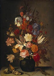 van der Ast | Still Life with Flowers, c.1632/57 | Giclée Canvas Print