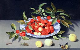 van der Ast | Still Life of Cherries and Peaches, undated | Giclée Canvas Print