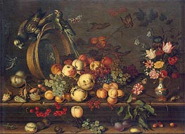 van der Ast | Still Life with Fruits, Shells and Insects, c.1620 | Giclée Canvas Print
