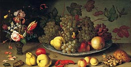 van der Ast | Still Life with Fruits and Flowers, c.1620 | Giclée Canvas Print