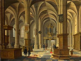 Bartholomeus van Bassen | Interior of St Cunerakerk, Rhenen, 1638 | Giclée Canvas Print