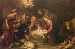 Murillo | The Adoration of the Shepherds, c.1665/68 | Giclée Canvas Print