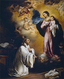 Murillo | The Virgin Appears to Saint Bernard, c.1660 | Giclée Canvas Print