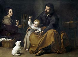 Murillo | The Holy Family with a Little Bird, c.1650 | Giclée Canvas Print