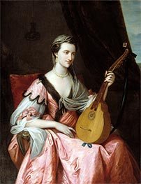 Mary Hopkinson, c.1764 by Benjamin West | Giclée Canvas Print