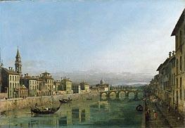 Bernardo Bellotto | The Arno in Florence with the Ponte alla Carraia | Giclée Canvas Print