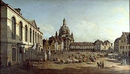 Bernardo Bellotto | The Neuer Marktplatz in Dresden | Giclée Canvas Print