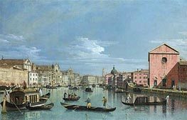 Bernardo Bellotto | Venice: Upper Reaches of the Grand Canal Facing Santa Croce, c.1740/50 | Giclée Canvas Print