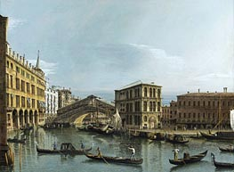 Bernardo Bellotto | Venice: View of the Grand Canal with the Rialto Bridge, c.1740 | Giclée Canvas Print
