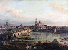 Bernardo Bellotto | Dresden from the Neustädter Bridgehead, 1765 | Giclée Canvas Print