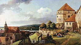 Bernardo Bellotto | Sonnenstein Fortress above Pirna, c.1753/55 | Giclée Canvas Print