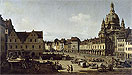 Bellotto - View of the New Market Place in Dresden from the Moritzstrasse - Art Print / Posters