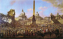 Bellotto - Entry into Rome of Jerzy Ossolinski Emissary of Wladyslaw IV of Poland with Pope Urban VIII - Art Print / Posters