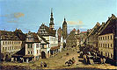 Bellotto - The Marketplace at Pirna - Art Print / Posters