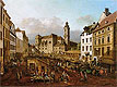 Bellotto - The Freyung in Vienna, View of South-East - Art Print / Posters