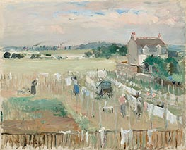 Hanging the Laundry out to Dry, 1875 by Berthe Morisot | Giclée Canvas Print