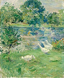 Girl in a Boat with Geese, c.1889 by Berthe Morisot | Giclée Canvas Print