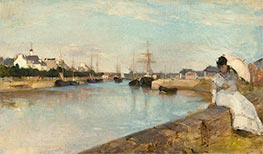 The Harbor at Lorient, 1869 by Berthe Morisot | Giclée Canvas Print