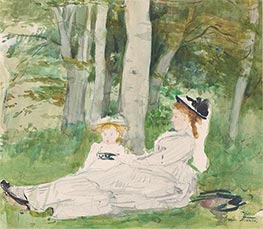 At the Edge of the Forest (Edma and Jeanne), c.1872 by Berthe Morisot | Giclée Paper Print