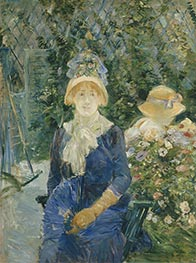 Woman in a Garden, c.1882/83 by Berthe Morisot | Giclée Canvas Print