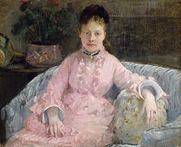 The Pink Dress, c.1870 by Berthe Morisot | Giclée Canvas Print