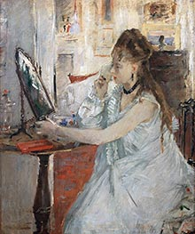Young Woman Powdering Herself, c.1877 by Berthe Morisot | Giclée Canvas Print