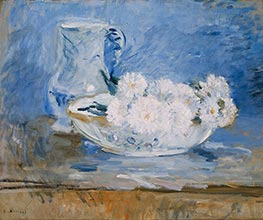 White Flowers in a Bowl, 1885 by Berthe Morisot | Giclée Canvas Print