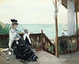 In a Villa at the Seaside, 1874 by Berthe Morisot | Giclée Canvas Print