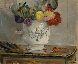 Dahlias, 1876 by Berthe Morisot | Giclée Canvas Print