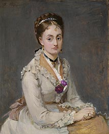 Portrait of a Woman, c.1872/75 by Berthe Morisot | Giclée Canvas Print