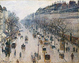Pissarro | The Boulevard Montmartre on a Winter Morning | Giclée Canvas Print