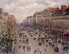 Pissarro | Boulevard Montmartre - Afternoon, Sunshine | Giclée Canvas Print