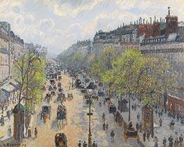 Pissarro | Boulevard Montmartre - Spring | Giclée Canvas Print
