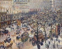 Pissarro | Boulevard des Italiens - Morning, Sunlight | Giclée Canvas Print