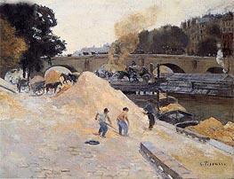 Pissarro | The Banks of the Seine in Paris, Pont Marie, Quai d'Anjou | Giclée Canvas Print