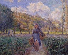 Pissarro | In the Vegetable Garden | Giclée Canvas Print
