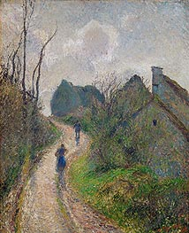 Pissarro | Road Climbing to Osny, 1883 | Giclée Canvas Print