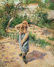 Pissarro | Peasant Digging, 1882 | Giclée Canvas Print