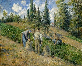 Pissarro | The Harvest, Pontoise, 1881 | Giclée Canvas Print