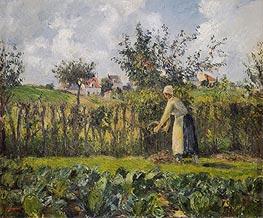 Pissarro | In the Kitchen Garden, 1878 | Giclée Canvas Print