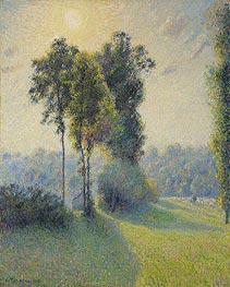 Pissarro | Landscape at Saint-Charles, near Gisors, Sunset, 1891 | Giclée Canvas Print