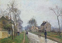 Pissarro | The Road: Rain Effect, 1870 | Giclée Canvas Print