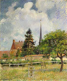 Pissarro | The Church at Eragny, 1884 | Giclée Canvas Print